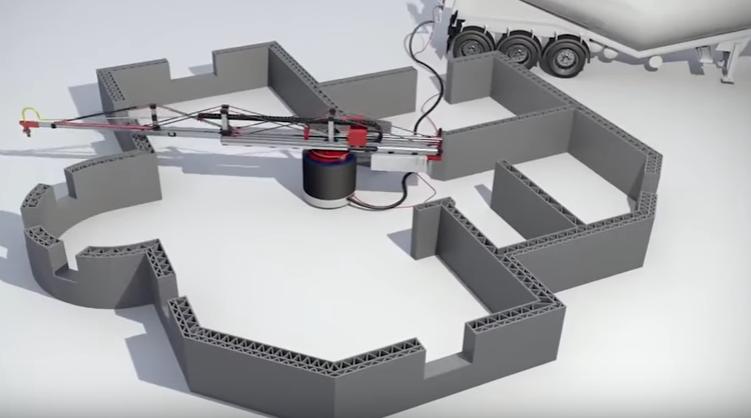 3d принтер для строительства домов